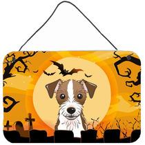 Halloween Jack Russell Terrier Pared O Puerta Colgando Impre