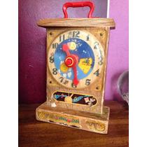 Fisher Price Toys. Music Box Tick-tock Clock. Reloj Vintage.