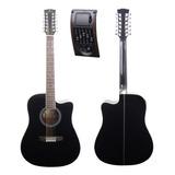 Guitarra Electroacústica 12 Cuerdas Docerola 5 Bandas Segovi