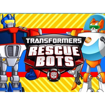 Kit Imprimible Transformers Rescue Bots Diseña Tarjetas 2x1