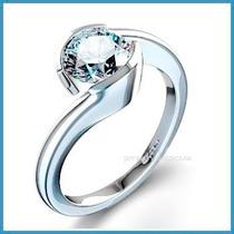 Anillo De Compromiso Diamante Natural .20ct Oro 14k -50% 029