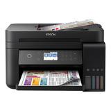 Impresora A Color Multifunción Epson Ecotank L6171 Con Wifi 110v Negra