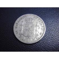 España 50 Centavos Fecha 1896 Plata