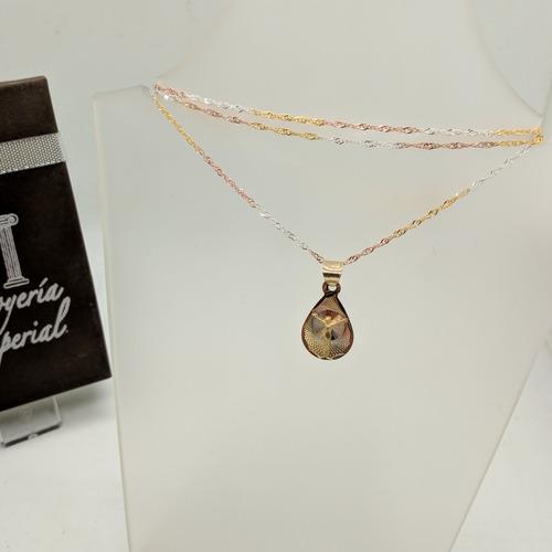 7d66fb79f9ca Medalla Para Bautizo 10k Con Cadena Plata Florentina Promo en venta ...