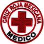 Cruz Roja Medico Mexico Parche Bordado Rescate Militar