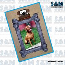 Portaretrato En Resina Huesitos Perros Mascota Foto Recuerdo