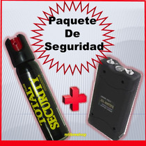 Gas Pimienta + Taser Paralizador Electrico Recargable