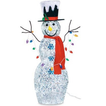Mono De Nieve Muñeco Inflable Adorno Navidad Con Luces Pm0