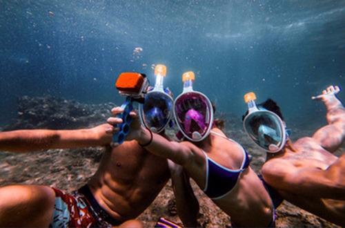 6edb62ab2 Mascara Snorkel Easy Breath Con Adaptador Para Gopro Sj4000. Precio    549  Ver en MercadoLibre