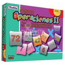 T089 Memoria Multiplicación Y División Operaciones 8+ Totte