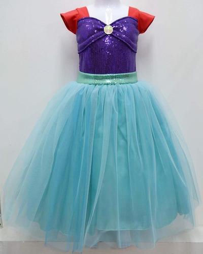 Sirenita Tutus Niña Disfraces Vestidos Ariel En Venta