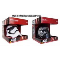 Star Wars Paquete 2 Cascos Deluxe Kylo Ren Y Stormtrooper