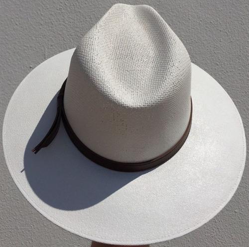 6858842ef4413 Sombrero Indiana Lona Mayoreo Y Menudeo Color Blanco