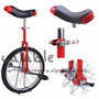 Monociclo Color Rojo De 41 Cm, 46 Cm Y 51 Cm