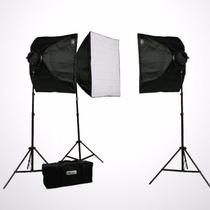 Kit De Iluminacion Estudio Fotografico Softbox Ephoto Pro