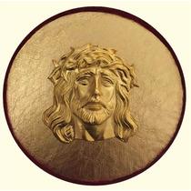 Cuadro Religioso 2.- Imagen De Cristo Con Baño De Oro 24k