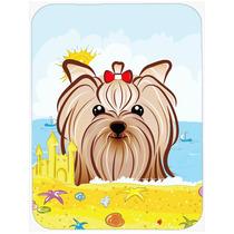 Yorkie Terrier Yorkishire Verano La Playa De Cristal Tabla D