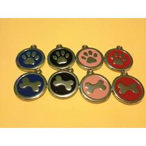 Placas Para Perro Redondas En Forma De Huesos O Huellas
