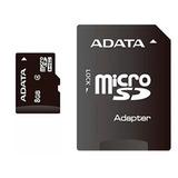 Memoria Micro Sd Adata 8gb Cl 4 C/adaptador Ausdh8gcl4-ra1