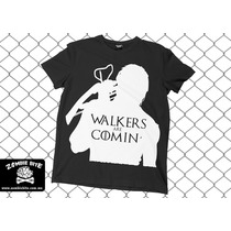 Playera The Walking Dead & Games Of Thrones