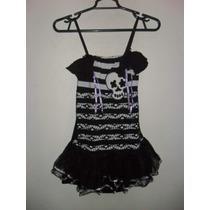 Vestido Calavera Para Niña Talla 12 - 14 Halloween