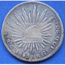 Moneda México Chihuahua 8 Reales 1845 Rg Excelente Estado