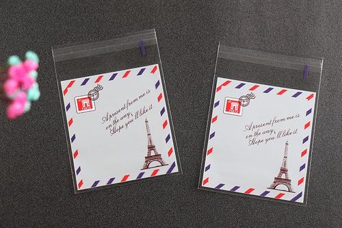 b75a69a16 50 Bolsas Decorativas Celofán Mesa De Dulces Torre Eiffel en venta ...