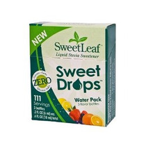 Sweetleaf Stevia Dulce Gotas Paquete Agua