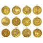 Set 12 Monedas Chinas Hor�scopo Doradas Suerte Feng Zodiaco