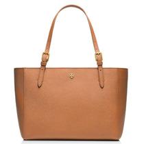 Bolsa Tory Burch York Small Luggage 100% Piel Original Nueva