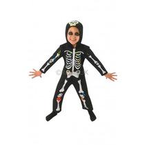 Disfraz Esqueleto - Infantil Baby Horror Niños Del Vestido