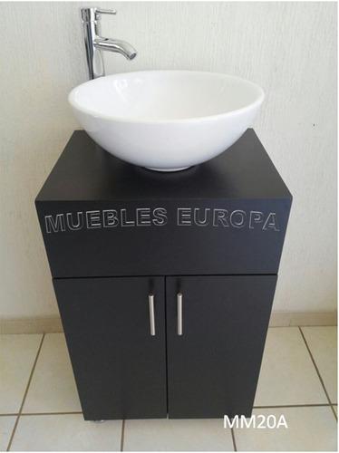 Mueble para ba o con lavabo blanco de oportunidad 3599 for Ovalines para lavabo