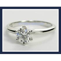 Anillo De Platino Con Diamante Natural .51ct Certificado Ags