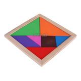 Tangram 100% Madera Rompecabezas Juego Didactico Material