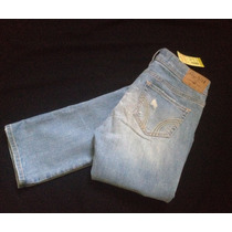 Jeans Hollister Co.destroyed Bootcut T-24 Stretch Nuev Orig