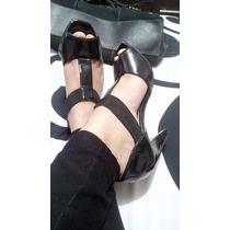 Zapatos Sexys Con Resorte Capa De Ozono Charol