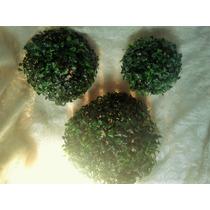 Topiario Esfera Bola Follaje Sintético Decoración 21cm
