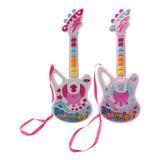 Juguete Musical Guitarra Mágica Luz Sonido Regalo Niñas 661h