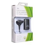 Kit Carga Y Juega Para Control Xbox 360 - Cable Y Pila