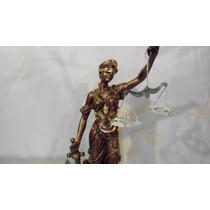 Escultura Figura Resina Diosa De La Justicia Athenea 43 Cm