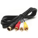 Cable Audio Y Video Sega Saturno 10 Pines Chapa Oro