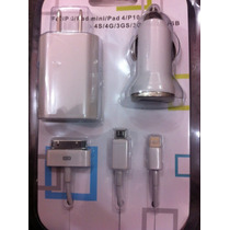 Cargador De Pared Cable Datos Auto Iphone 5 3g 4g Mini Ipad