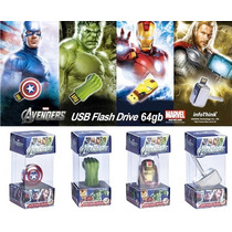 Memorias Usb 64 Gb Iron Man,hulk,thor,capitan America