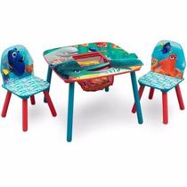 Mesa Con Almacenamiento Y 2 Sillas Disney Buscando A Dory