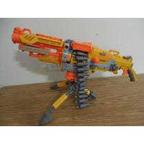 Metralleta Pistola Vulcan Nerf 70cm Largo Cartucho E216