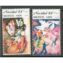 Sc 1574 1575 Año 1988 B1 Navidad Pinturas De Jose Reyes