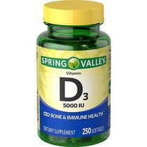 5000iu Vitamina D3 Spring Valley 250 Pcs. Enviamos Hoy!