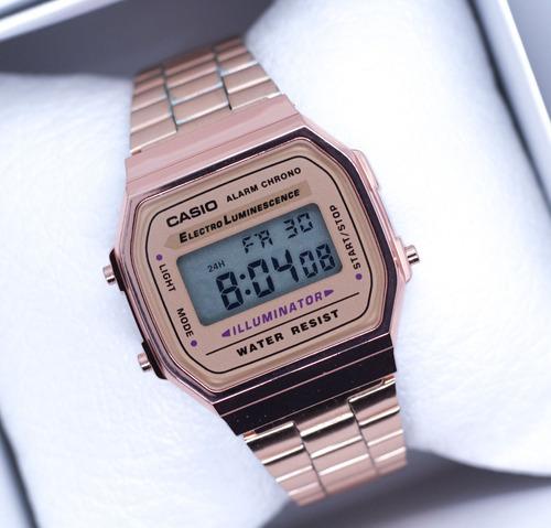 f851ad11c8ad Reloj Casio Rosa Dorado Negro Plata A168 Vintage Envio Grati en venta en  Azcapotzalco Distrito Federal por sólo   419