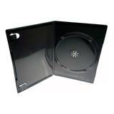 100 Estuche Dvd 14 Mm Sencillo Negro Plastico Portada Full