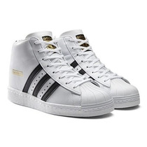 Adidas Gold Superstar Up Bota Tacon Integrado Blanco Negro